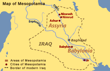 Map of mesopotamia from bbc 2