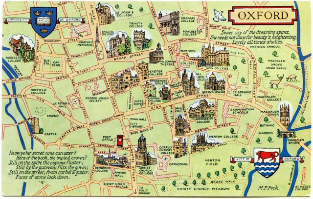 Map of oxford from pinterest 1