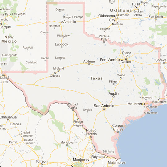 Map Of Texas Cities