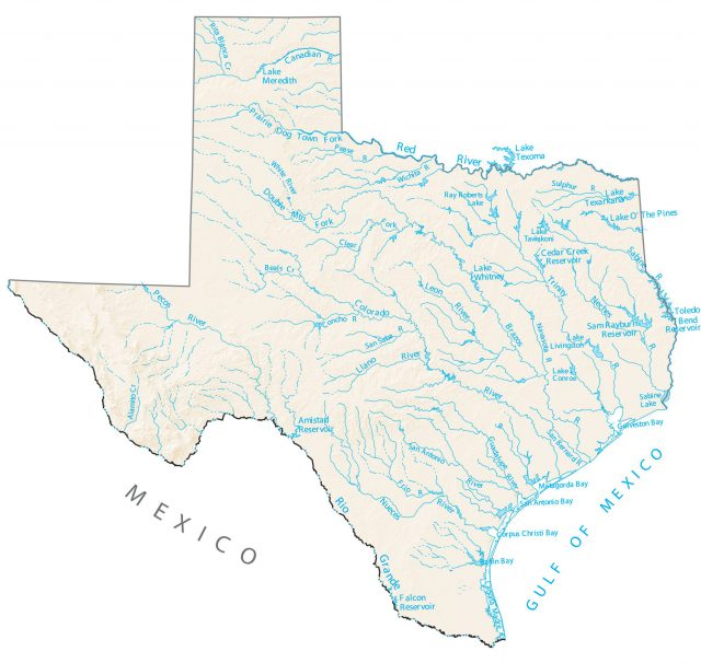Map Of Texas Rivers