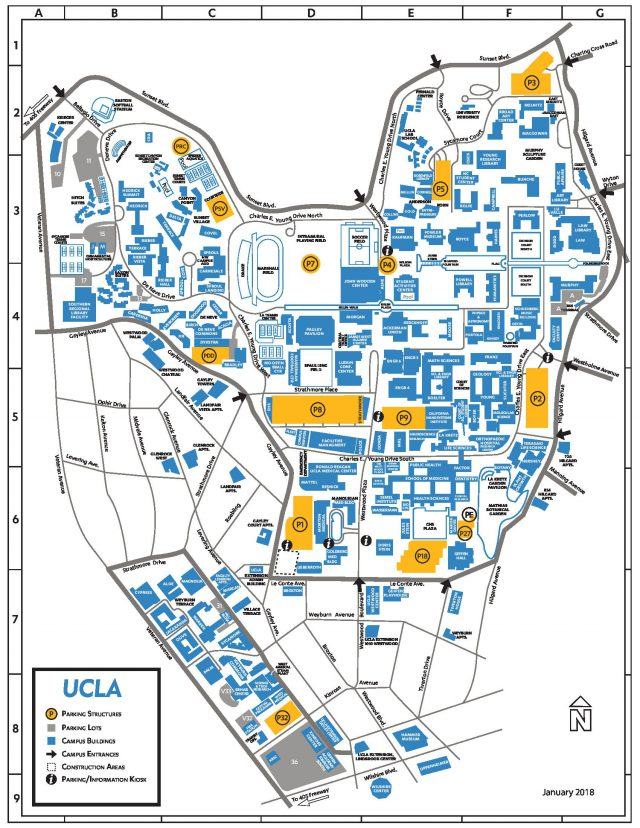 Map of ucla campus from id 1