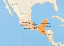 Mayan Empire Map: Mayan empire map from timemaps 1