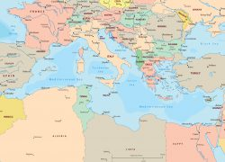 Mediterranean Sea Map: Mediterranean sea map from geographicguide 2