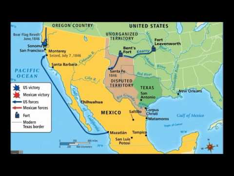 Mexican american war map from youtube 1