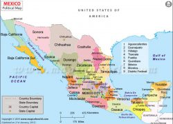 Mexico political map from cvln rp 7
