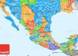 Mexico political map from maphill 8