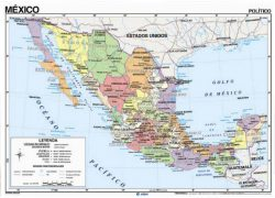 Mexico political map from mapshop 2
