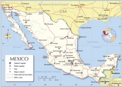 Mexico Political Map: Mexico political map from nationsonline 1
