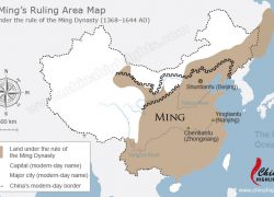 Ming Dynasty Map: Ming dynasty map from chinahighlights 1