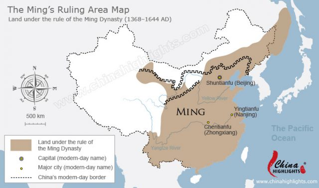 Ming dynasty map from chinahighlights 1