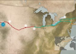 Mormon Trail Map: Mormon trail map from history 2