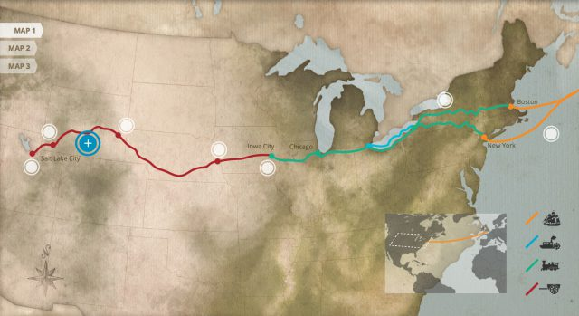 Mormon trail map from history 2