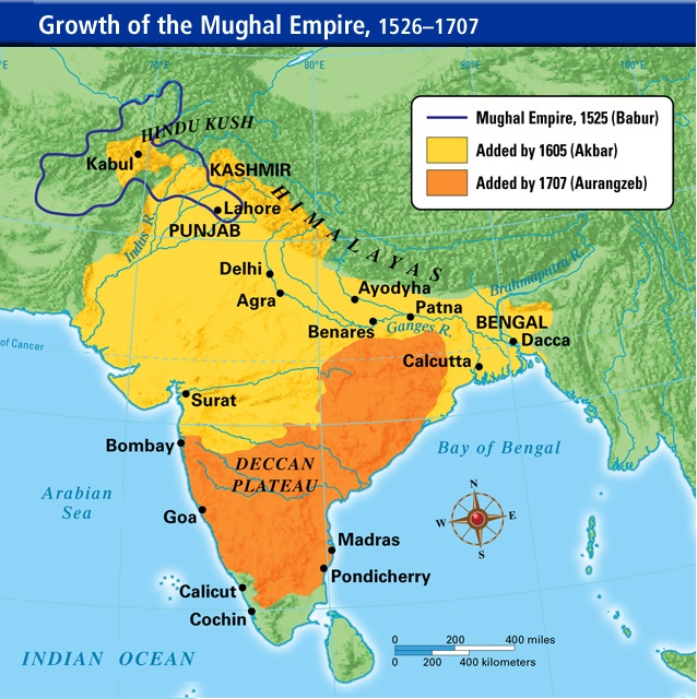 Mughal empire map from commons 1