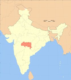 Nagpur On Political Map Of India