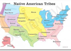 Native American Map: Native american map from amazon 1