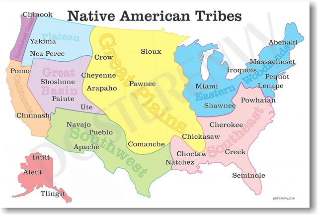 Native american map from amazon 1