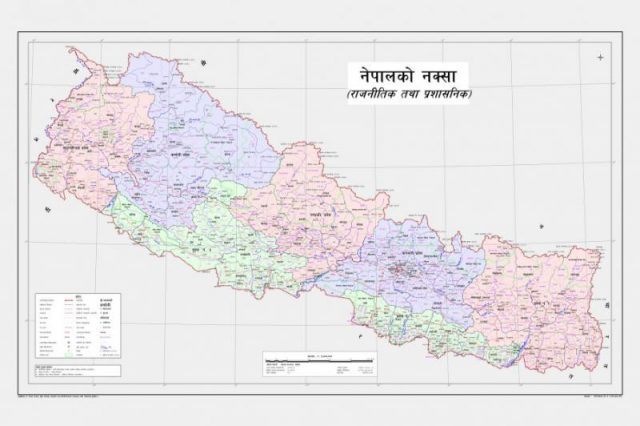 Nepal political map from thewire 1