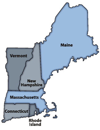 New England Colonies Map