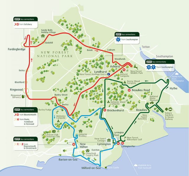 New forest map from thenewforesttour 1