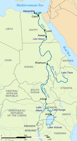 Nile river map from en 1