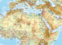 North Africa Physical Map: North africa physical map from diercke 1