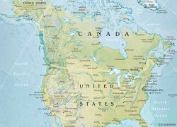 North America Physical Map: North america physical map from geographicguide 1