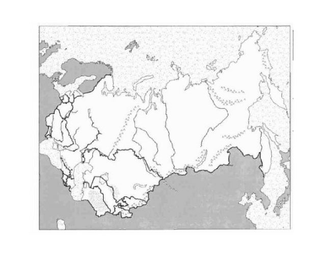 Northern Eurasia Physical Map