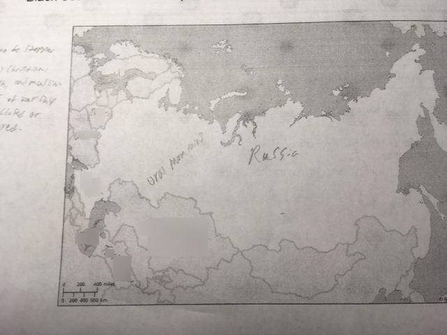 Northern eurasia physical map from quizlet 1