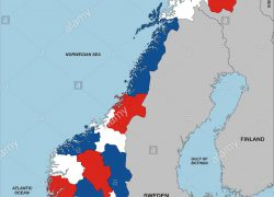 Norway map from alamy 4