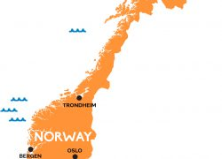 Norway map from railpass 3