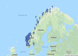 Norway map from world of waterfalls 10