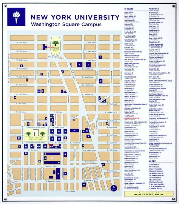 Nyu campus map from pinterest 1