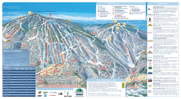 Okemo Trail Map