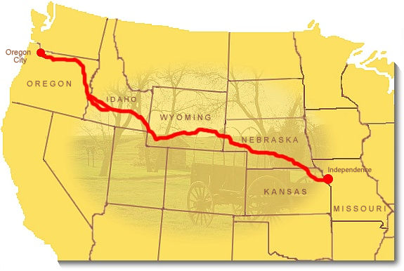 Oregon trail map from nps 3