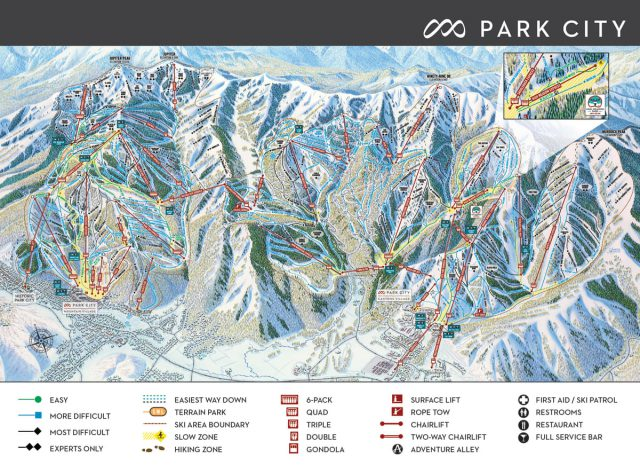 Park city utah trail map from parkcitymountain 1