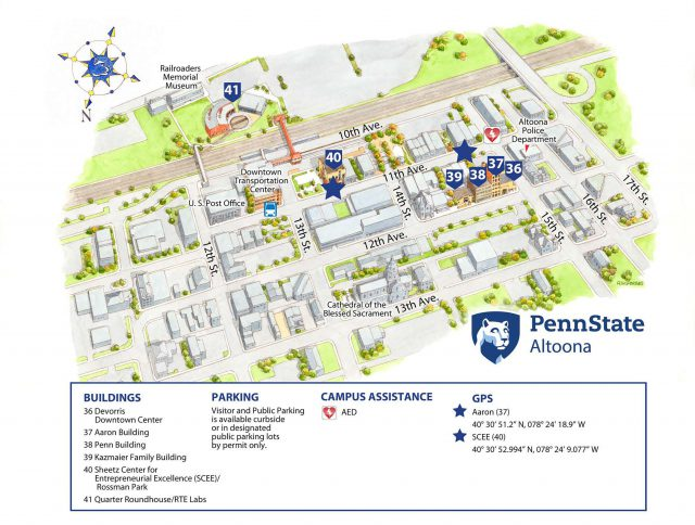 Penn State Altoona Campus Map