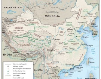 Physical map of ancient china from ducksters 1