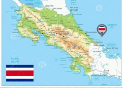 Physical map of costa rica from dreamstime 10