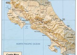 Physical map of costa rica from geology 9