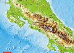 Physical Map Of Costa Rica: Physical map of costa rica from maphill 1