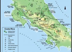 Physical map of costa rica from turkey visit 7