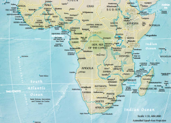 Physical Map Of Sub Saharan Africa: Physical map of sub saharan africa from worldgeo 1