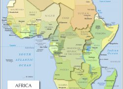Political Map Of Africa: Political map of africa from nationsonline 1