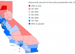 Political Map Of California: Political map of california from ppic 1