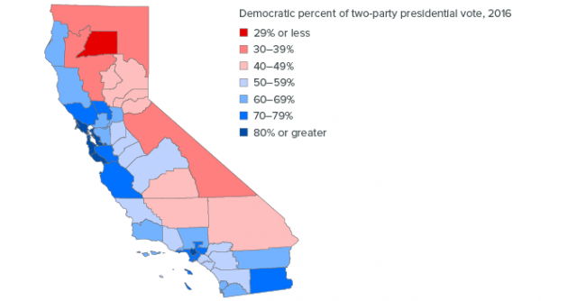 Political map of california from ppic 1