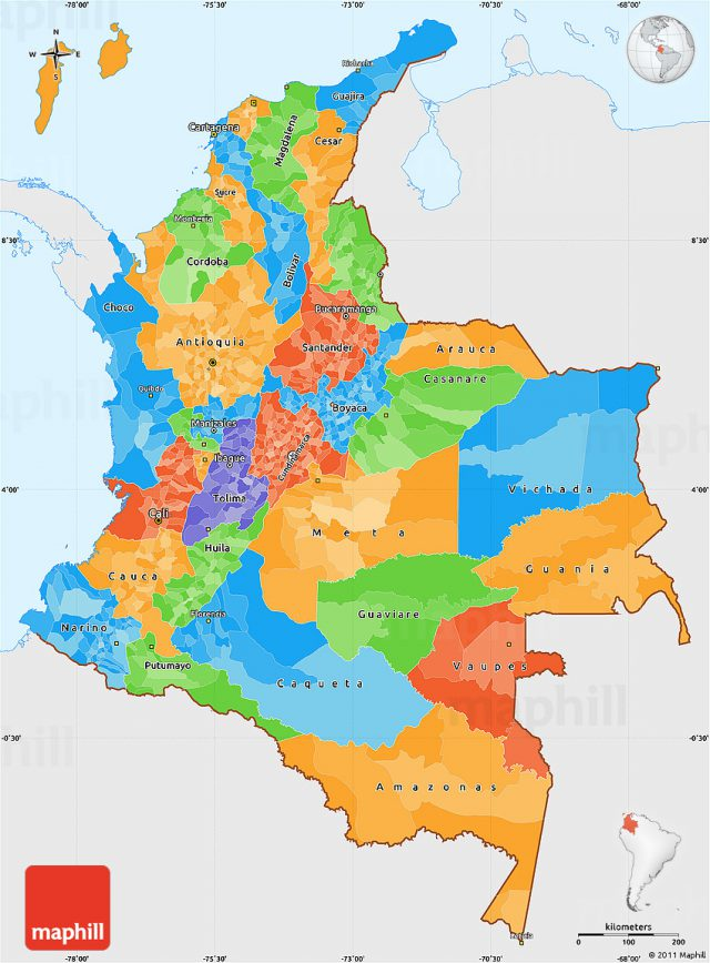 Political Map Of Colombia