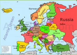 Political map of europe from annamap 9