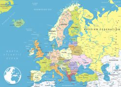 Political map of europe from mapofeurope 7