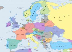 Political map of europe from mapswire 10