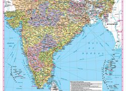 Political Map Of India 2020: Political map of india 2020 from amazon 1